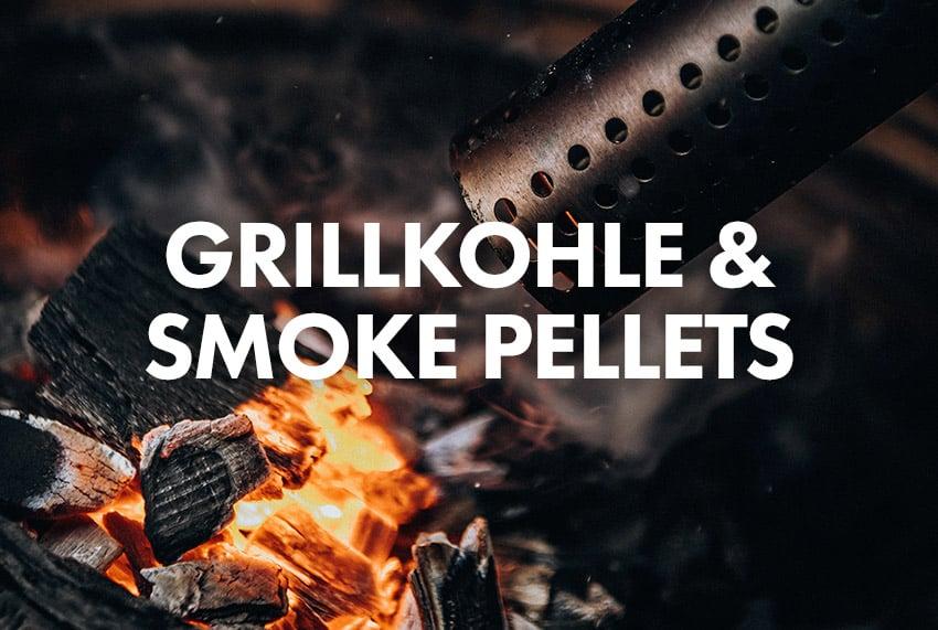 Monolith Grillkohle und Smoke Pellets