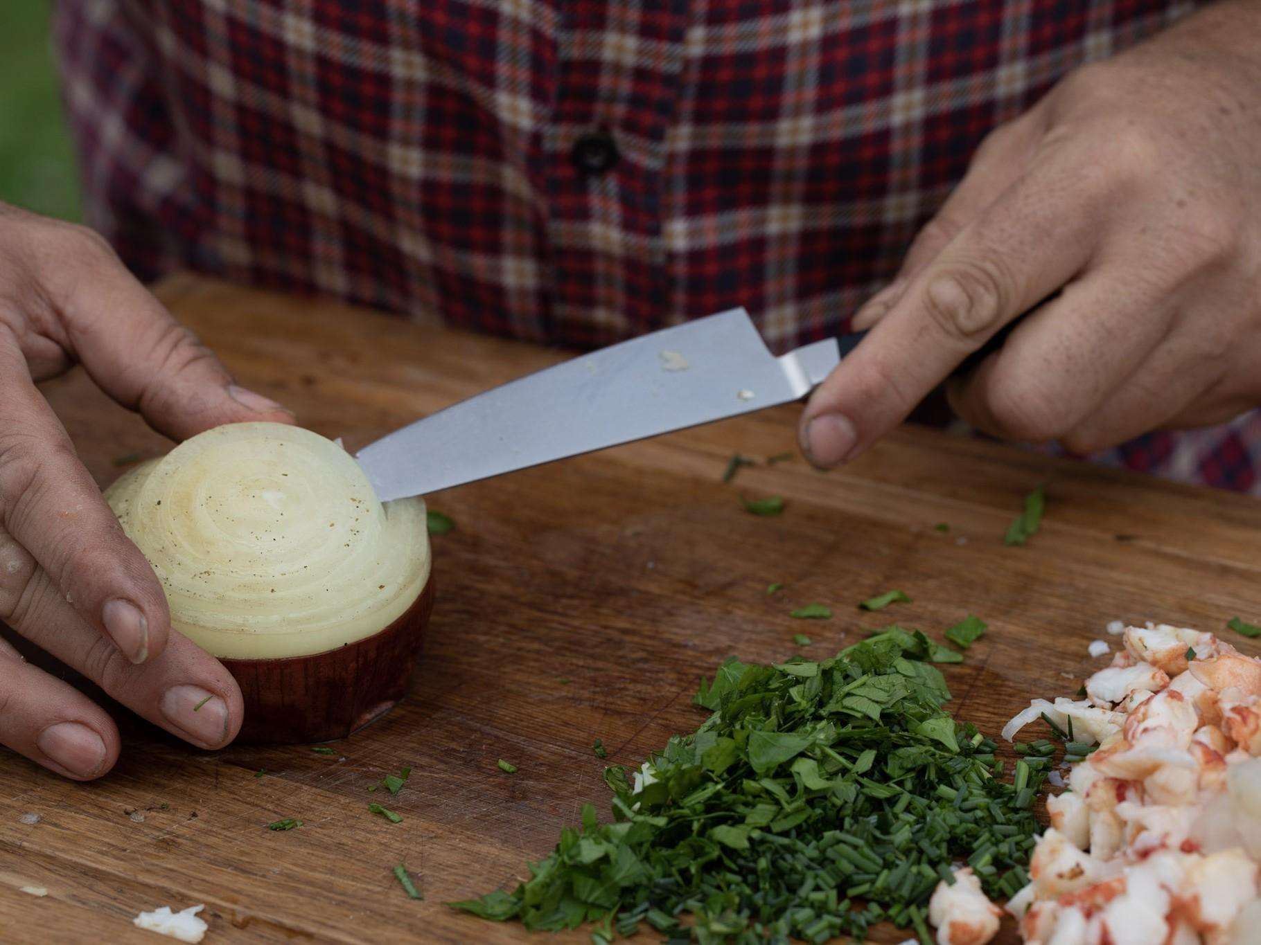 Zwiebel Souffle Kamado Grill