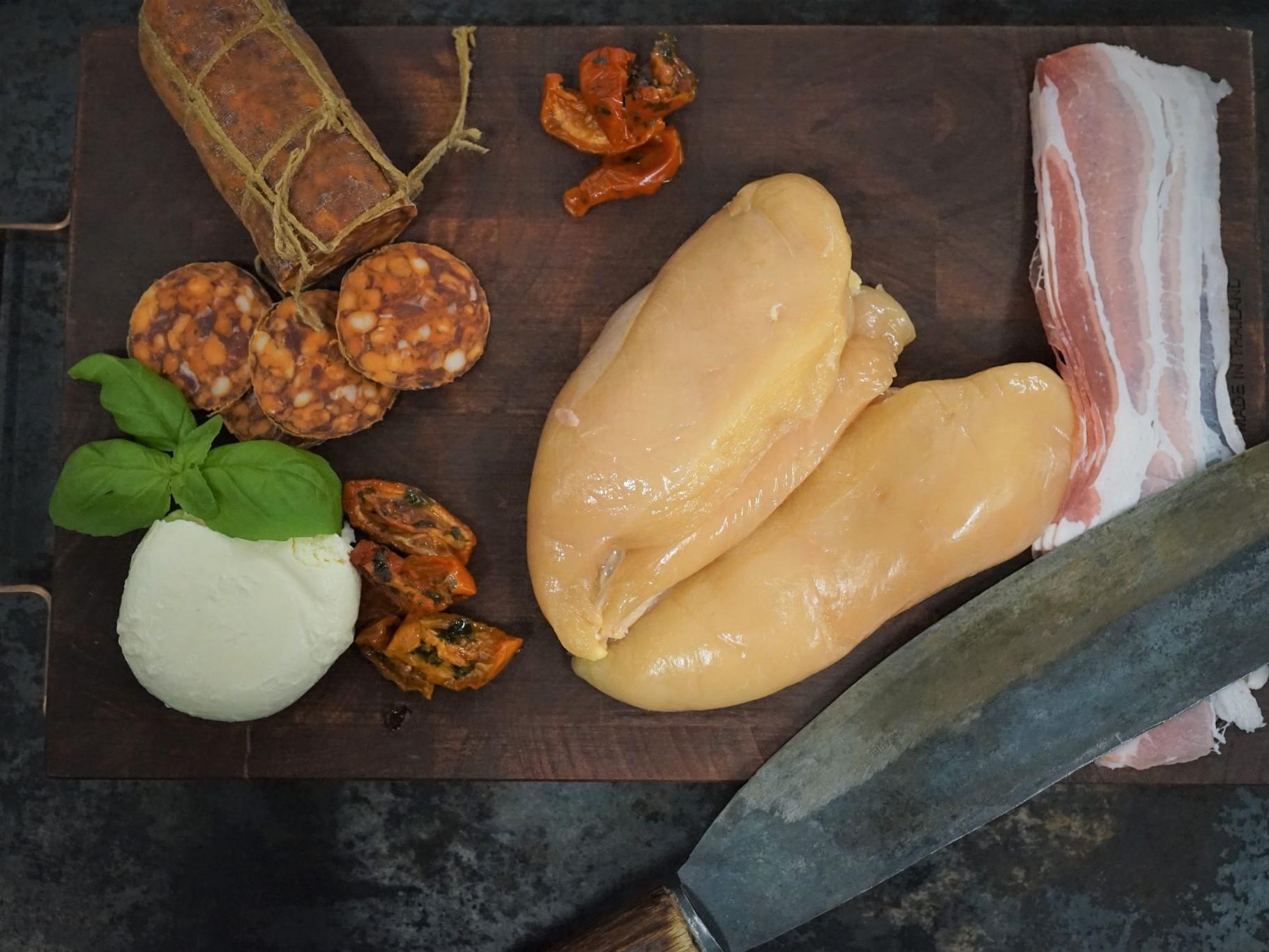Hähnchenbrust Keramikgrill