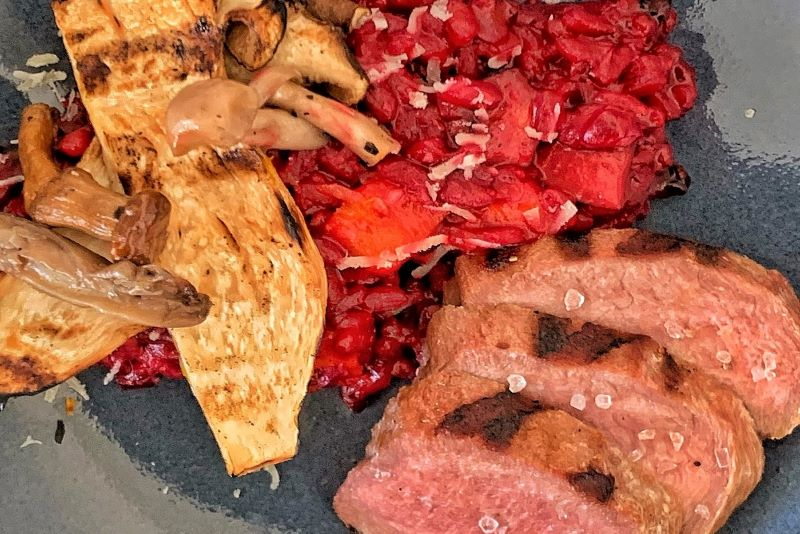 Rode bieten risotto