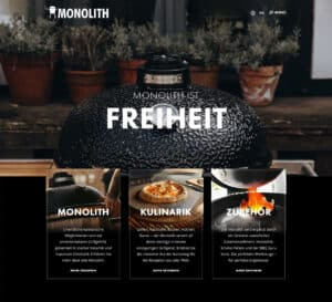 Monolith Grill Website
