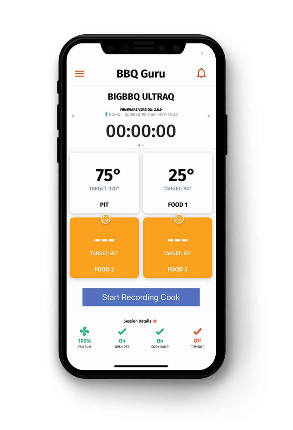 BBQ Guru App iPhone