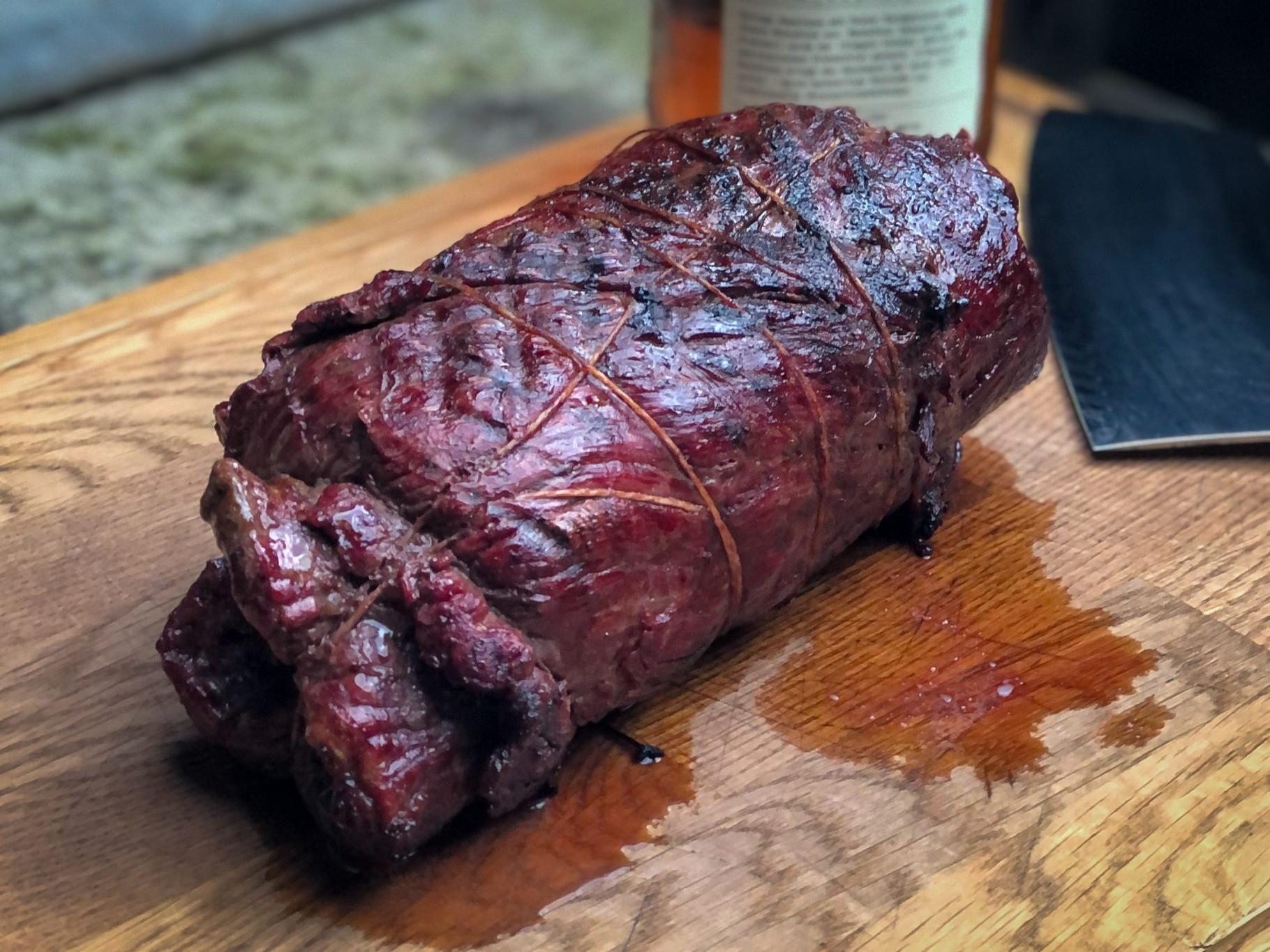 Flank Steak Kamado Grill